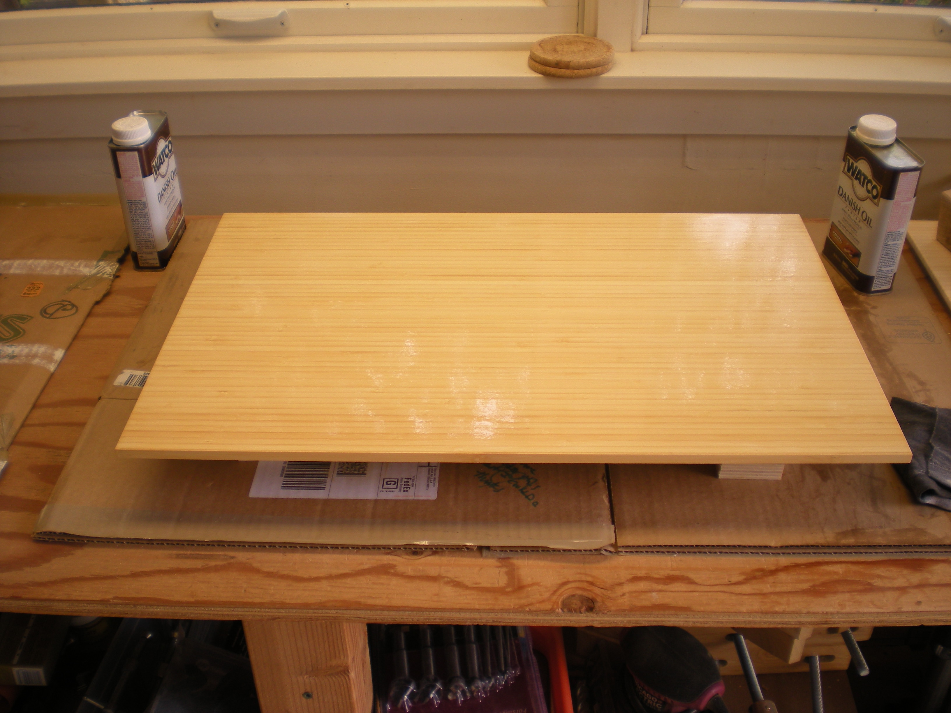 Bamboo Side Table   Top Oil Finish ...